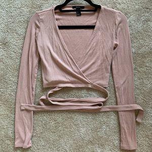 Ballet wrap shirt